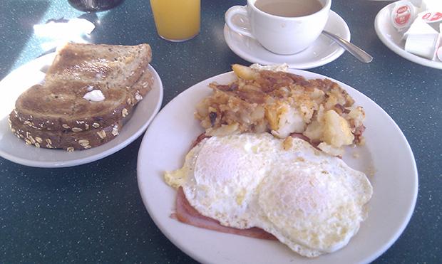 Tipičan doručak u New Yorku