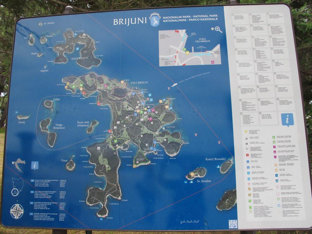 MISTERIJI JADRANA: Brijuni - od močvarnog otoka s malarijom do luksuznog turizma Karta otocja